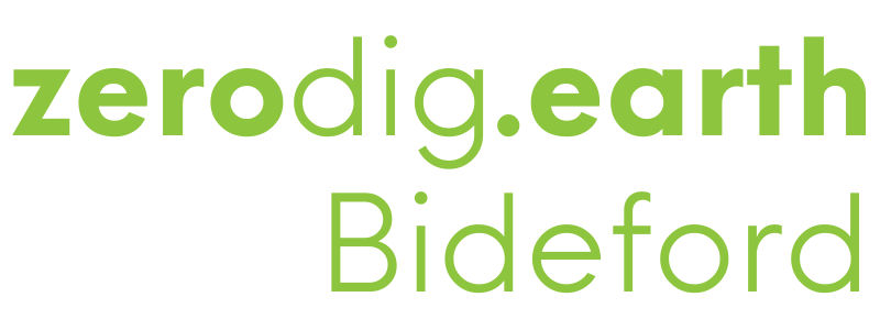 Zerodig Bideford green logo image